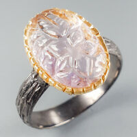 Unique Jewelry Natural Ametrine 925 Sterling Silver Ring Size 7/R113961