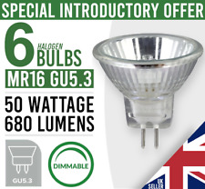 6x Eco MR16 GU5.3 50W Halogen Dimmable Light Bulb Spot Lamp 12V PACK OF 6 Bulbs