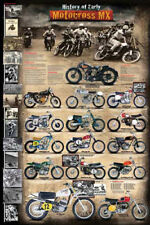 The HISTORY OF EARLY MOTOCROSS Dirt Bike Motorcycle Racing WALL POSTER