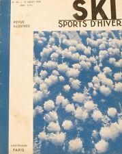 Ski Sport d'Hiver n°24 - 1934 - Orédon - Paris Titlis Paris -