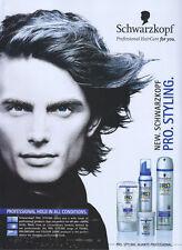 Schwarzkopf Pro Styling 2003 Magazine Advert #3298