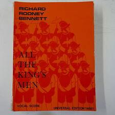 VOCAL SCORE tutti i KINGS uomini Richard Rodney Bennett, UE 14661