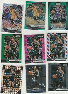 D'ANGELO RUSSELL PRIZM RAINBOW LOT (9) 2016-17 TO 2019-20 GREEN RWB COLORS MORE