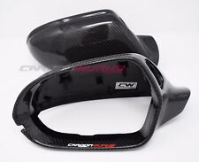 Audi A6 Carbon Fibre Fiber Replacement Mirrors - A6 S6 RS6 C7 - UK Stock