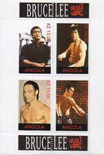 Bruce lee arts martiaux kung fu karate warrior angola neuf sans charnière timbre sheetlet