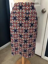 LulaRoe Cassie Skirt, Blues, Pink, Red & White, XL, NWT