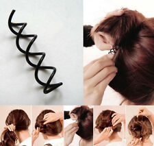 10X Mystic Spiral Spin Screw Pin Hair Clip Twist Barrette Black Accessory Hot EY