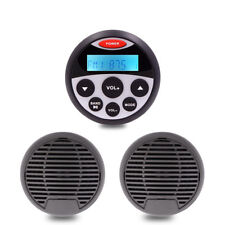 Waterproof Marine Stereo Mp3 Player Bluetooth AM FM Radio + Outdoor Car Speakers