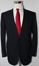 Saintandrews for Brooks Brothers Gray Striped Wool Two Button Suit 41 R 35 Pants
