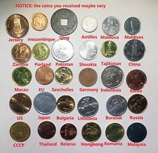 Free Shipping World Wide! Set of 30 Coins From 30 Different Countries Coins Lot