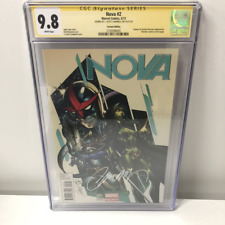 Nova #2 CGC 9.8 SS Yellow Label J. Scott Campbell Signed Variant Cover