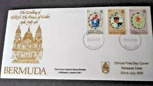 Bermuda 1981 Royal Wedding First Day Cover