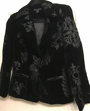 SHERI BODELL Silk Blazer/Jacket Embroidered with Appliques~SZ SMALL~SO CUTE!!!