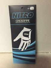 Nitro Crossfire Performance Golf Glove Mens M Left Blue/ White. New
