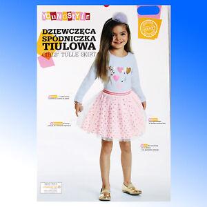 Girls Tutu Skirt Mix Match Tops and  Dance Petticoat Party Dress 3-8 Years