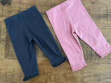 Baby Girl 3-6 months F&F Pink Grey 2 Pairs Leggings Vgc Combine Postage