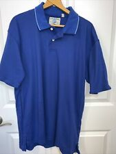 Men's Dickie & Walker Blue Polo Shirt Sz L 100% Cotton NWT