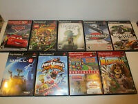 Lot of 9  Used Ps2 Kids Games VG Cond   Disney Cars, Wall E, Madagascar  & More