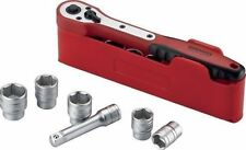Teng Tools 1/4 Drive Ratchet Socket Extension Tool Set In Storage Holder