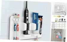 Mspan Toothbrush Razor Holder for Shower: Wall Mounted Adhesive Hanging Electric