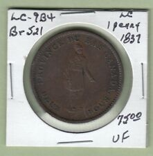 LC-9B4 1837 Lower Canada One Penny Token - Br521 - VF