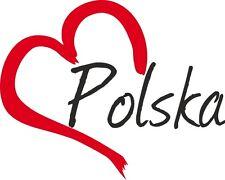 "Auto Aufkleber "" POLSKA "" Sticker Polen ca.9x11cm konturgeschnitten"