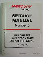 Mercury Racing # 6 Service Manual 500 EFI 502 (8.2L) 90-840283 Used OEM