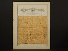 Minnesota Clear Water County Map Popple Township 1912  Y7#20