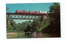 Vintage Railroad Train Post Card Vermont Railway 601 & 602 August, 1971