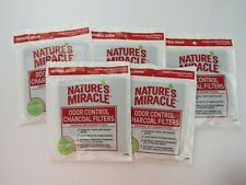 Natures Miracle Lot Of 5 Odor Control Charcoal Filters Universal 2CT Per Bag