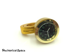 GOLD Universal 7/8'' 1'' Cruiser Handle Bar Mount Clock Watch For Motorcycle