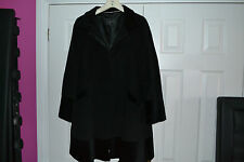 Ladies sz 16 Coast black wool blend Coat