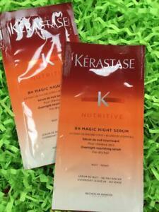 2x KERASTASE Nutritive 8H Magic Night Serum 0.2oz Each, Packets - NEW, FREE SHIP