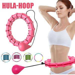 Smart Hula Hoop Massage Fitness Bauchtrainer Gymnastikreifen 24Teile Hoola Hoops