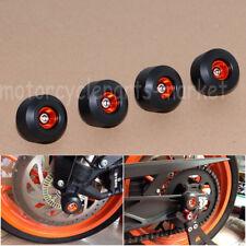 Front Rear Fork Wheel Protector Frame Slider Crash Pads For KTM DUKE 125 200 390