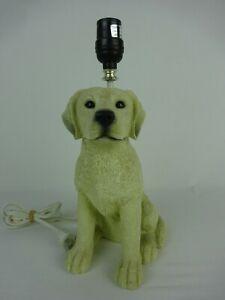 Yellow Labrador Retriever Puppy Dog Resin Desk / Table Lamp ~ No Shade