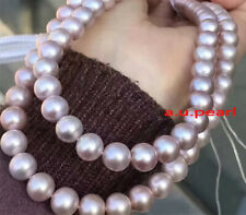 """long AAAAA 36""""12-13mm NATURAL south sea pink purples pearl necklace 14K gold"""