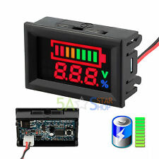 Lead Acid Battery Status Indicator Capacity Dual Display LED Tester Meter 12V
