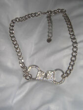 BUTLER & WILSON VINTAGE HANDCUFF CLEAR CRYSTAL NECKLACE