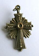 MICROPHOTOGRAPHIE, croix en argent, vue stanhope, ex voto, religious, LOURDES .
