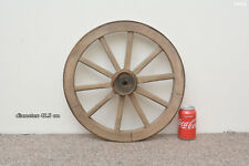 Vintage old wooden cart wagon wheel  / 42.5 cm - FREE DELIVERY