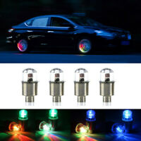 4x Universal LED Flash Lamp Car Wheel Tire Valve Stem Cap Light Bike Motorcycle