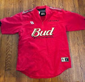Chase Authentics Sz L Drivers Line Dale Earnhardt Jr Bud 1/4 Zip Pull Over Shirt