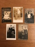 1910-1930s Lot of 5 Photographic Postcard Family Children Photo Bakersfield Kern