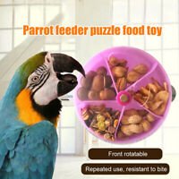 Pet Parrot Toys Wheels Bite Chewing Birds Foraging Food Box Cage Feeder
