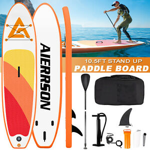 10.5ft Sup Stand Up Paddle Board Board Surfing Inflatable Paddleboard  Oar Water