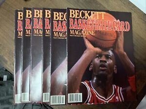 5 Michael Jordan Beckett Basketball Card Magazine Issue #1 March/April 1990