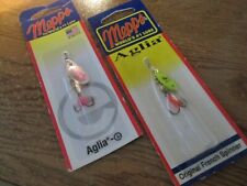 Mepps Spinner Fishing Baits, Aglia Pattern lot of 2 New Chart - Pink