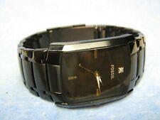 Men's Black FOSSIL Water Resistant Watch w/ New Battery