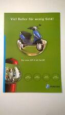"""Piaggio-Roller-Prospekt """" Piaggio ZIP II 50 """" von 2001 / 4 Seiten / TOP-Zustand"""